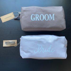 Bride & Groom Toiletries Bags